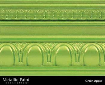 MODERN MASTERS ME706-06 GREEN APPLE METALLIC PAINT SIZE:6 OZ.