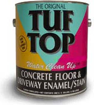 TUF TOP 10-111 LIGHT TINT BASE FLOOR AND DRIVEWAY COATING WATER BASED SIZE:1 GALLON.