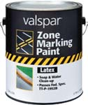 VALSPAR 135 ZONE MARKING PAINT LATEX WHITE SIZE:1 GALLON.