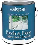 VALSPAR 1505 LATEX INT / EXT SATIN ENAMEL PORCH & FLOOR CLEAR BASE SIZE:1 GALLON.