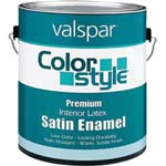 VALSPAR 26905 COLOR STYLE INT LATEX SATIN PASTEL BASE SIZE:1 GALLON.