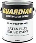 VALSPAR 555 GUARDIAN CONTRACTOR EXT LATEX FLAT HOUSE PAINT WHITE SIZE:1 GALLON.