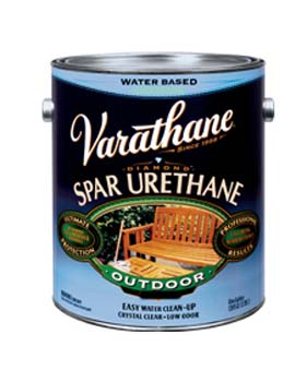 VARATHANE 25023 250231 CLEAR SATIN DIAMOND OUTDOOR WATERBORNE WOOD CARE SIZE:1 GALLON.