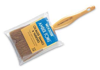 "WOOSTER 1123 AMBER FONG VARNISH BRUSH BROWN CHINA BRISTLE SIZE:3"" PACK:12 PCS."