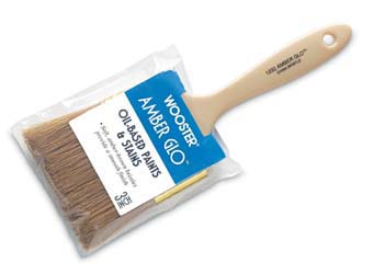 """WOOSTER 1232 AMBER GLO PAINT BRUSH SIZE:1.5"""" PACK:12 PCS."""