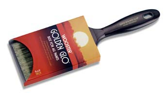 "WOOSTER Q3118 GOLDEN GLO NYLON POLY FLAT PAINT BRUSH SIZE:3"" PACK:12 PCS."