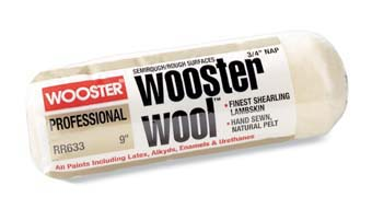 "WOOSTER RR633 WOOSTER WOOL COVER SIZE:9"" NAP:3/4"" PACK:12 PCS."