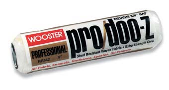 "WOOSTER RR642 PRO DOO-Z 3/8"" NAP ROLLER COVER SIZE:9"" NAP:3/8"" PACK:12 PCS."